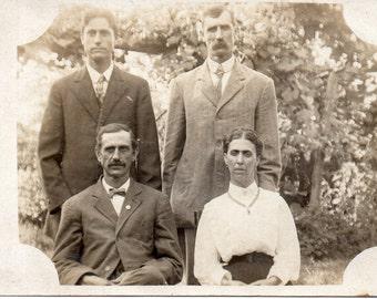 Antique RPPC of Haggard Family