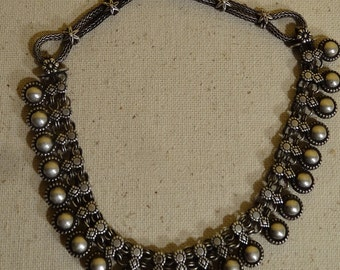 "Vintage Old Ethnic Tribal Silver Jewelry Necklace, India ""MAJOR REDUCTION"""