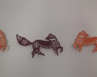 Foxy papercut bunting