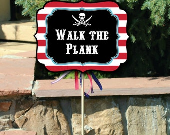 Pirate Party Signs with Editable Text, Printable Pirate Small Yard Signs, Pirate Signs, DIY Pirate Party Signs, Printable Pirate Yard Signs