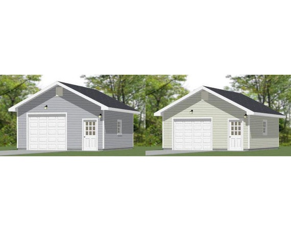 Items similar to 20x24 1 car garages pdf garage plans for 20 x 24 garage plans