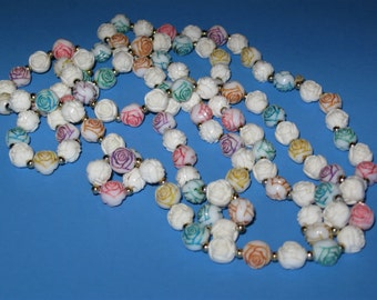 """52"""" Rose Bead Necklace"""