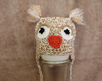 Crochet, Baby, Earflap, Owl