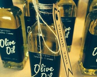 Mini olive oil bottles - 60 ML  (wedding favor)