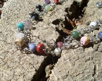 Extra Long Mixed Gemstone Necklace