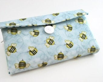 Cash Envelope Wallet | Cash Budget Wallet | Money Envelope System - Blue Bee- Women's Wallet