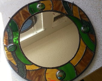 Stained Glass Wall Mirror