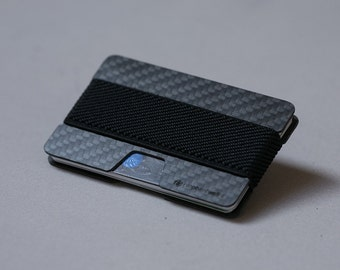 "Wallet, carbon fiber wallet and credit card holder, minimalist wallet, men's wallet, slim wallet, the ""N"" wallet by Elephant Wallet"