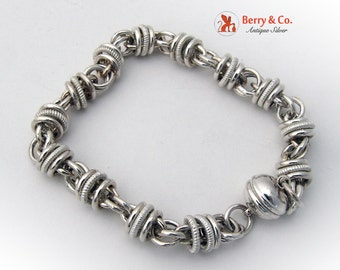 Ornate Chain Bracelet Sterling Silver Eb64