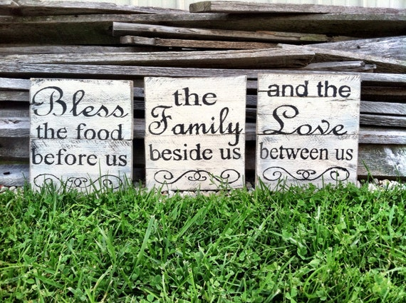 Bless The Food Before Us Sign Kitchen Pallet Sign Kitchen Decor Kitchen Sign Kitchen Decor