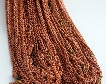 2 Copper Coated Chains   18 inch Chains   4 mm wide Chain