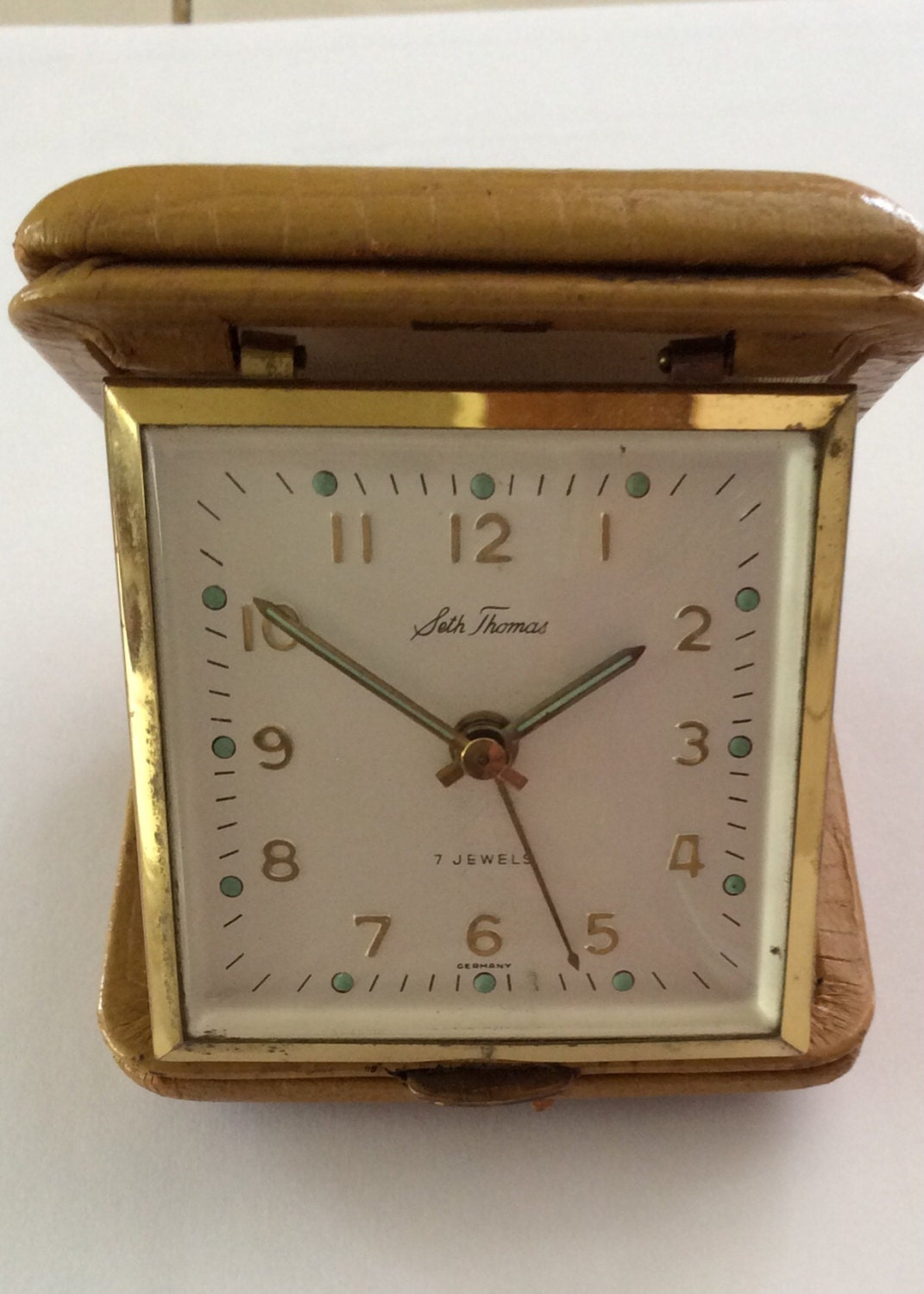 Vintage Seth Thomas Travel Alarm Clock Made In Germany Vintage