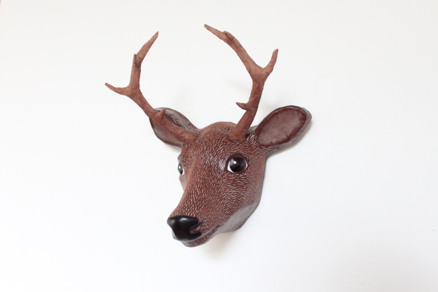 Faux deer head paper mache wall mount deer sculpture animal zoom amipublicfo Gallery