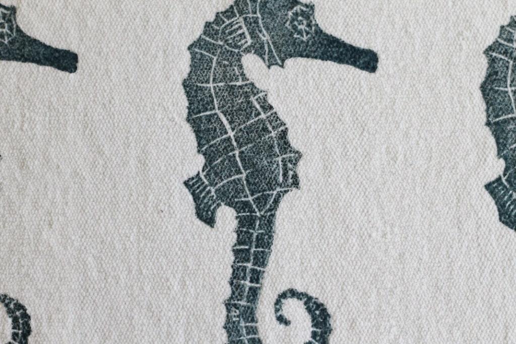 Bath Rug Bath Mat Seahorse Cotton Chenille Rug
