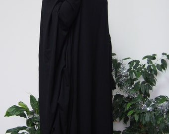 Long Tunic Jersey Dress with Quilling Loose Tunic Maxi Tunic & Nara DT003