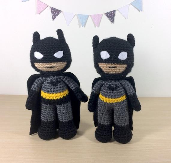 Batman Amigurumi Crochet Doll Pattern