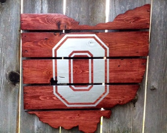 Recycled Pallet Ohio State Buckeyes