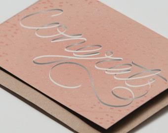 Congrats Card Pink
