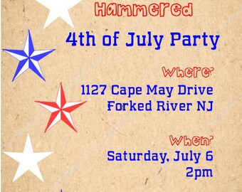 DIGITAL Fourth Of July Invitation!