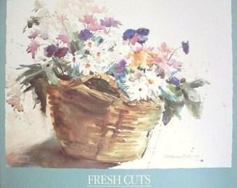 Fresh Cuts - Dawna Barton prints -63x72cm, floral wall art posters, 1986 print