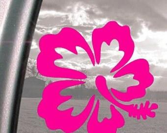 "Hibiscus Flower Hawaii 5"" Vinyl Decal Window Sticker for Car, Truck, Motorcycle, Laptop, Ipad, Window, Wall, ETC"