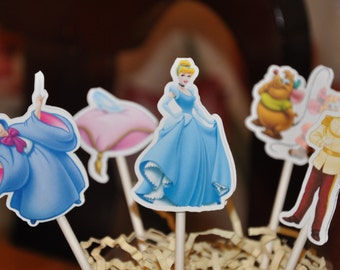 Cinderella Cupcake Toppers Set of 12