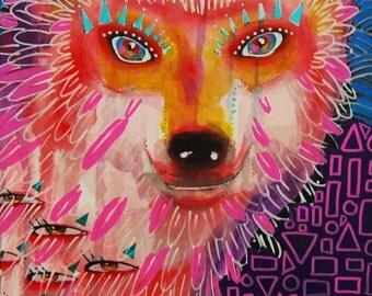 FOX - Signed Art Print