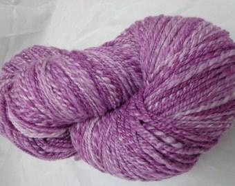Hand Dyed Handspun Merino Silk Yarn