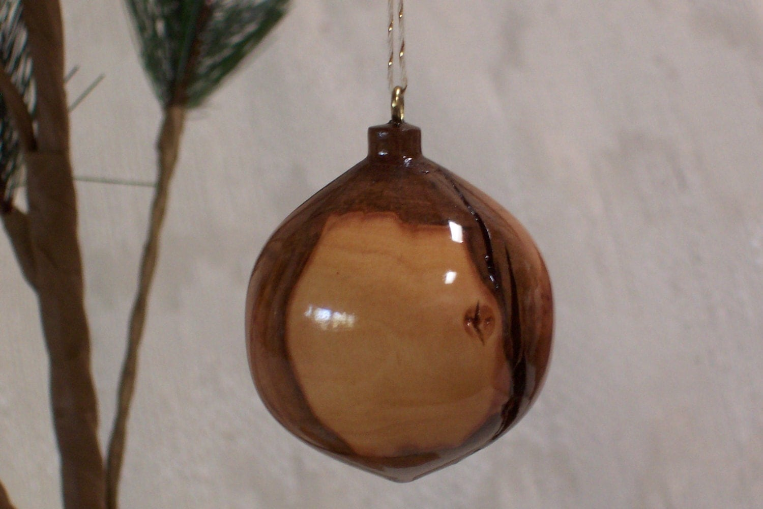 Turned wood ornament by lcatdesigns on etsy