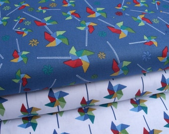 "0,5 m Printed cotton fabric ""Wind"" 115 cm br."