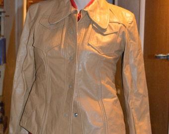 Rocker 70s Leather Urban Country Western Warren of Ca Shirt Jacket