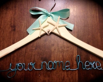 Starfish Dreams Themed Custom One line Hanger