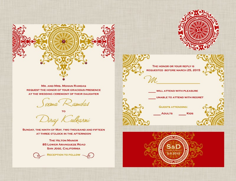 Mata ki chowki invitation card matter in english invitationjpg the azva collection indian wedding invitation an ornate stopboris Image collections