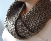 Chunky Warm Infinity Scarf made from 100% Wool