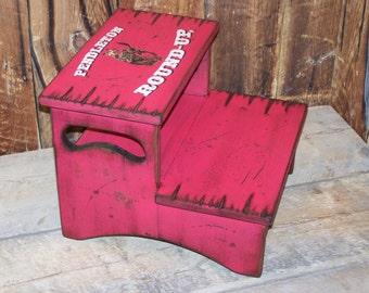 Two Step Stool, kid's stool, bathroom stool, wood stool for kid's, personalized kid's stool, kid's western stool, children's stool