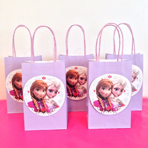 Disney Frozen Party Favor Bags By Littleartistshop On Etsy