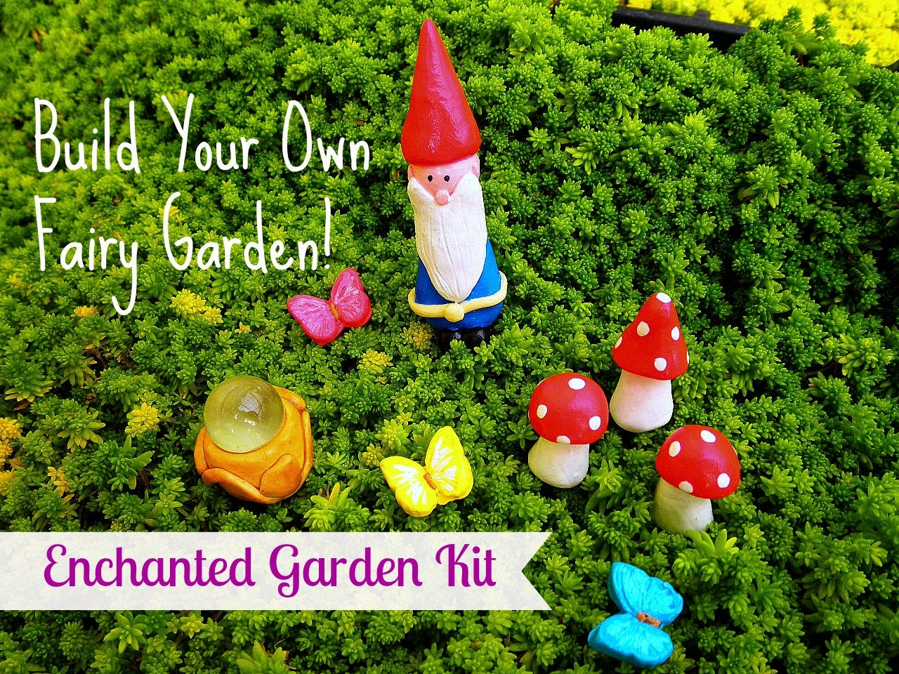 Build Your Own Fairy Garden Kit with gnome by BlueMallard on Etsy