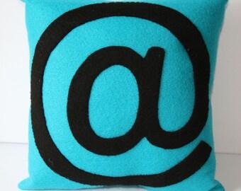 "The ""at""or @ sign Mini Felt Cushion"