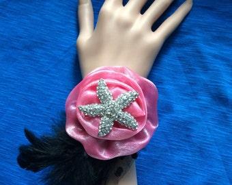 Brooch wrist corsage,  Bridesmaid wrist corsage,  Flower corsage bracelet