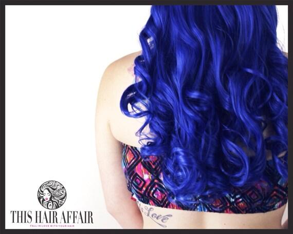 Blue Hair Extensions Clip 99