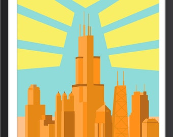 Chicago Art Deco Poster