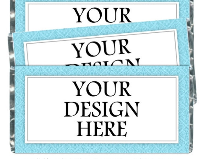 Printable Candy Wrappers, Custom Candy wrappers - fit over chocolate bars - CUSTOM design for you - wedding shower, baby shower, birthday