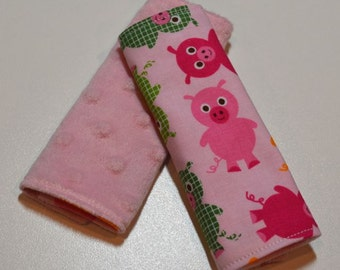 Car Seat Strap Covers - Pigs