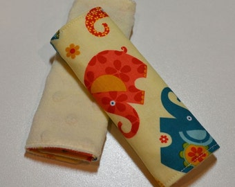 Car Seat Strap Covers - Elephants