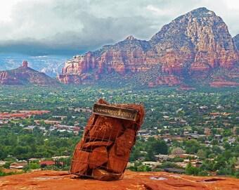 Overlook point in Sedona AZ, Sedona photography, Sedona Decor, Sedona Print, Sedona Art, Arizona Photography, Arizona Print, 8x10