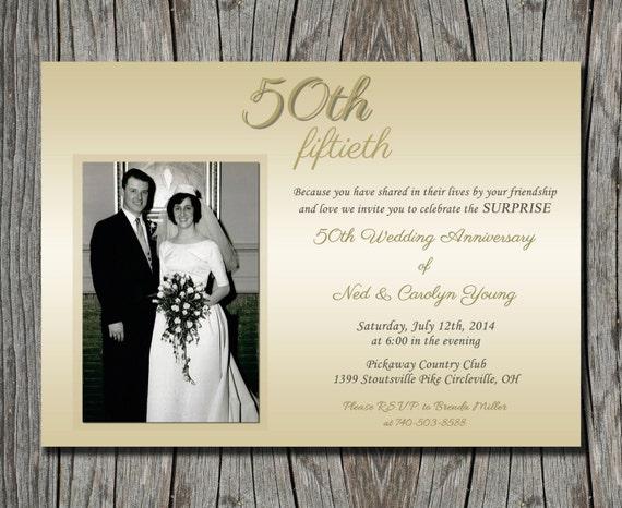 surprise wedding anniversary invitation 50th by pegsprints