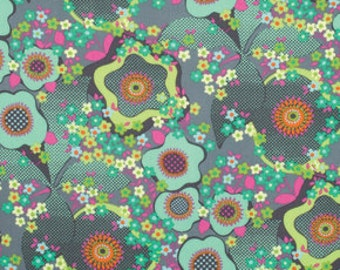 Half Yard - 1/2 Yard - Peace Flower in Mist - GLOW Collection by Amy Butler