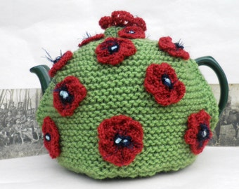Hand knitted 'In Flanders Fields' Tea Cosy (Limited Edition)