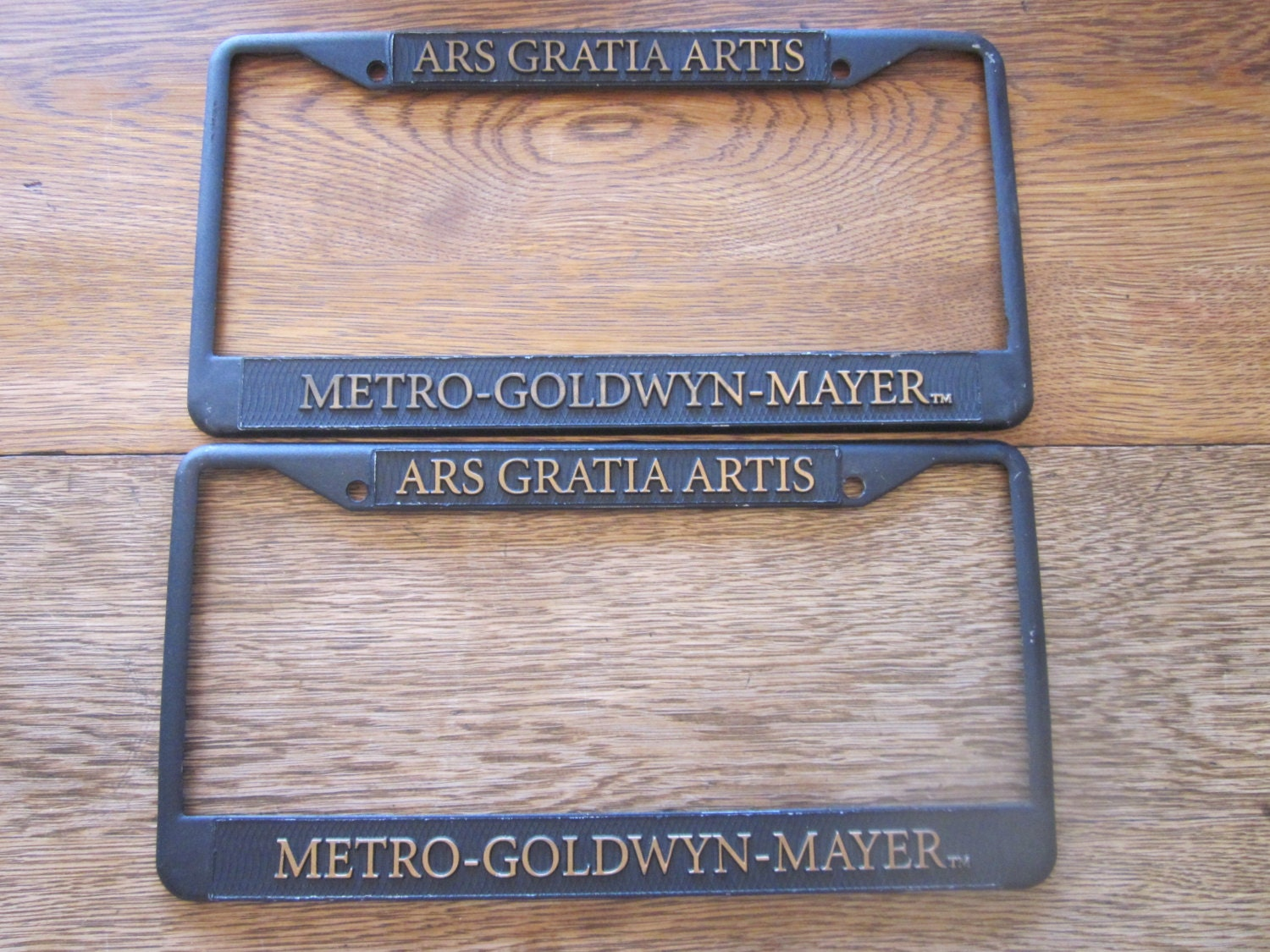 metro goldwyn mayer ars gratia artis license plate frames. Black Bedroom Furniture Sets. Home Design Ideas