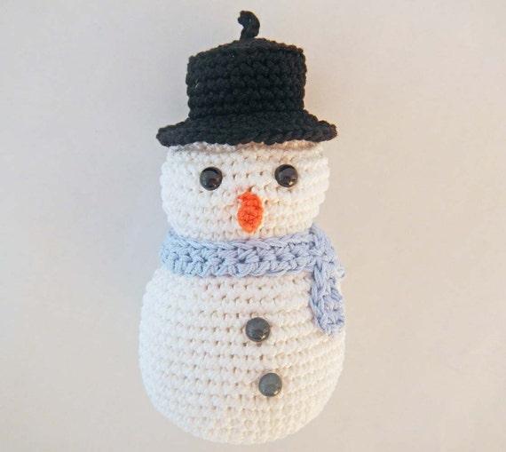 Crochet Pattern for Amigurumi Snowman by HerterCrochetDesigns